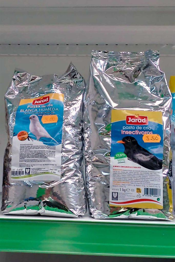 Comida para pájaros, Jarad Pasta de Cria - Semilleria Echaguy, Dos Hermanas