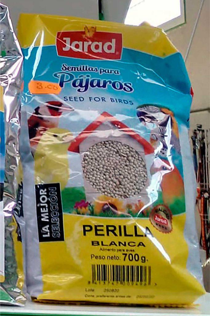 Comida para pájaros, Jarad Semillas Perilla Blanca - Semilleria Echaguy, Dos Hermanas