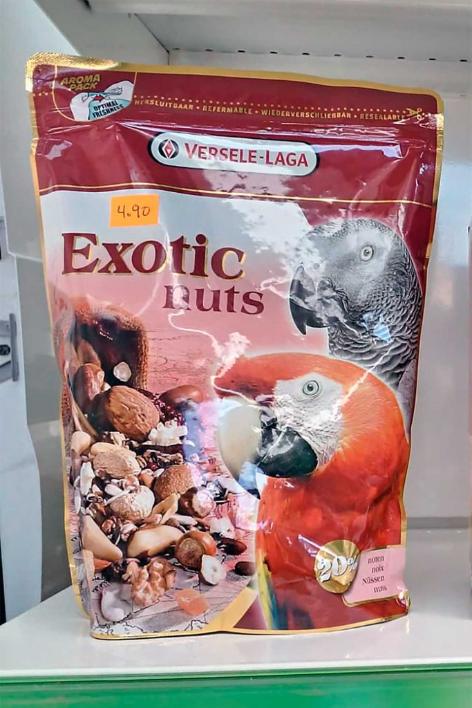 Comida para pájaros, Versele Laga Exotic Nuts - Semilleria Echaguy, Dos Hermanas