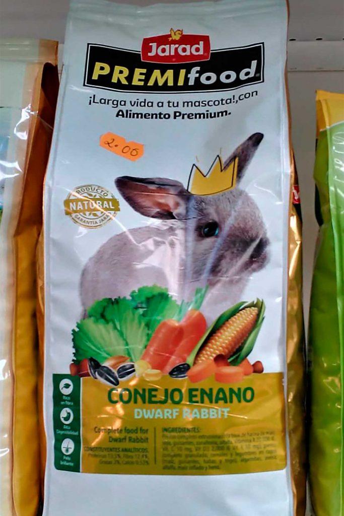 Comida para roedores, Jarad PremiFood Conejo Enano - Semilleria Echaguy, Dos Hermanas